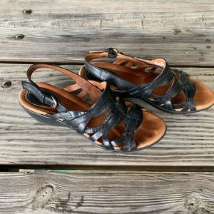 Leather Black and Brown Clarks